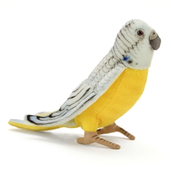 Lifelike Blue Parakeet Stuffed Animal by Hansa