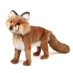 Handcrafted 17 Inch Lifelike Red Fox Stuffed Animal by Hansa