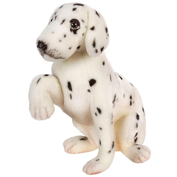 Lifelike Sitting Dalmatian Puppy Stuffed Animal by Hansa