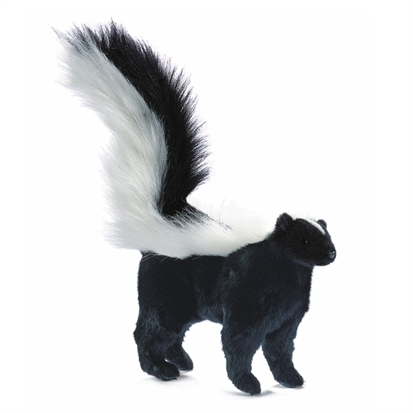 Handcrafted 14 Inch Lifelike Baby Skunk Stuffed Animal By Hansa At