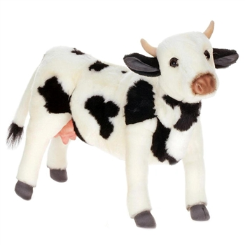 Lifelike Dairy Cow Stuffed Animal by Hansa