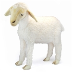 Life-size White Lamb Stuffed Animal by Hansa - Handcrafted - 20 Inch