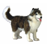 Handcrafted 16 Inch Lifelike Husky Stuffed Animal by Hansa