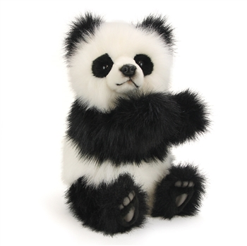 Lifelike Panda Bear Stuffed Animal by Hansa