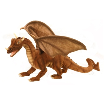 Handcrafted 18 Inch Lifelike Dragon Stuffed Animal by Hansa