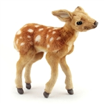 Handcrafted 12 Inch Lifelike Newborn Fawn Stuffed Animal by Hansa