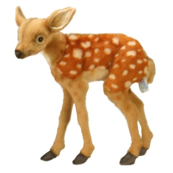 Lifelike Deer Fawn Stuffed Animal by Hansa