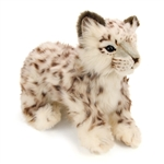 Handcrafted 14 Inch Lifelike Snow Leopard Cub Stuffed Animal by Hansa