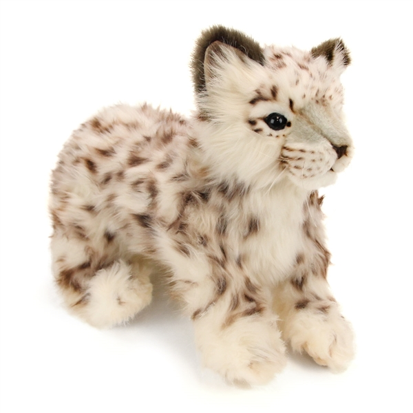 Handcrafted 14 Inch Lifelike Snow Leopard Cub Stuffed Animal By