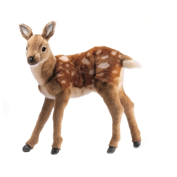 Lifelike Baby Deer Stuffed Animal by Hansa