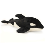 Lifelike Large Orca Stuffed Animal by Hansa