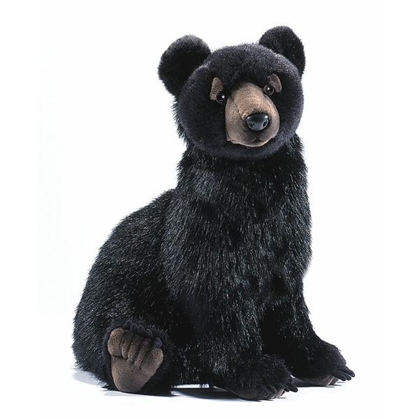 Handcrafted 16 Inch Lifelike Black Bear Cub Stuffed Animal By Hansa