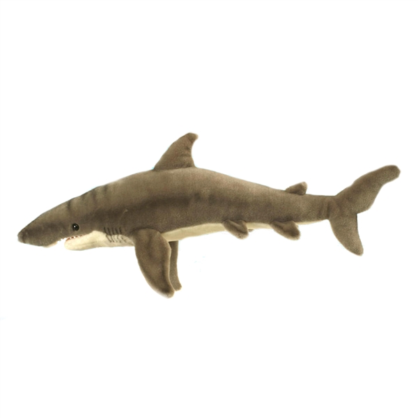 Lifelike Great White Shark Stuffed Animal Hansa Stuffed Safari