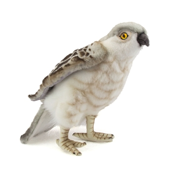 Handcrafted 10 Inch Lifelike Perched Falcon Stuffed Animal by Hansa