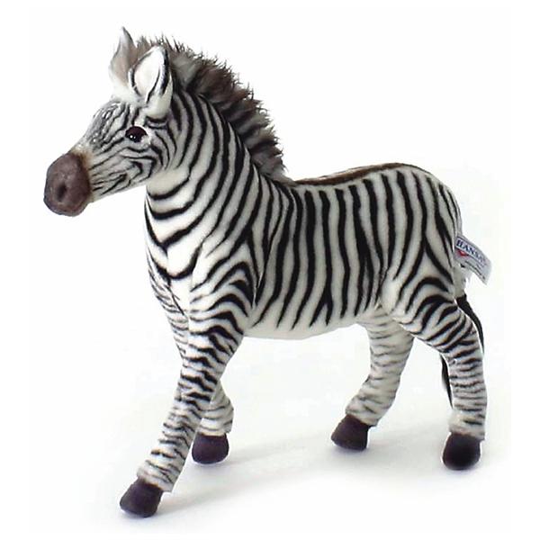Lifelike Zebra Stuffed Animal 14 Inch Hansa Stuffed Safari