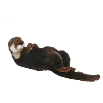 Lifelike Mother Otter Stuffed Animal by Hansa