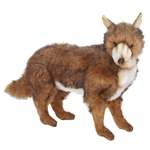 Lifelike Coyote Stuffed Animal by Hansa