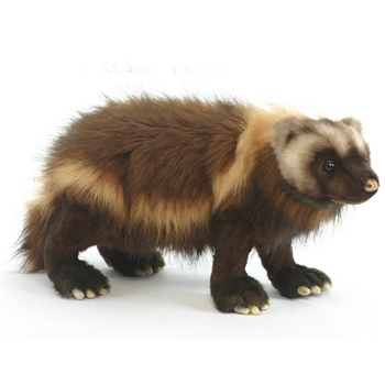 Lifelike Wolverine Stuffed Animal by Hansa