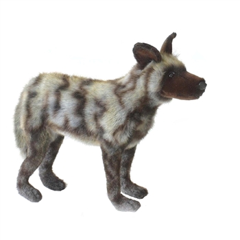 Lifelike African Wild Dog Stuffed Animal by Hansa