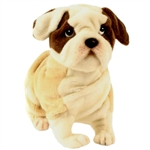 Lifelike Bulldog Stuffed Animal by Hansa