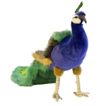 Handcrafted 13 Inch Lifelike Peacock Stuffed Animal by Hansa