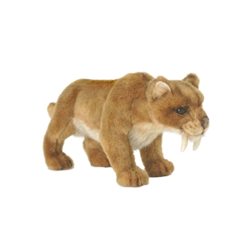 Lifelike Saber Tooth Tiger Stuffed Animal by Hansa