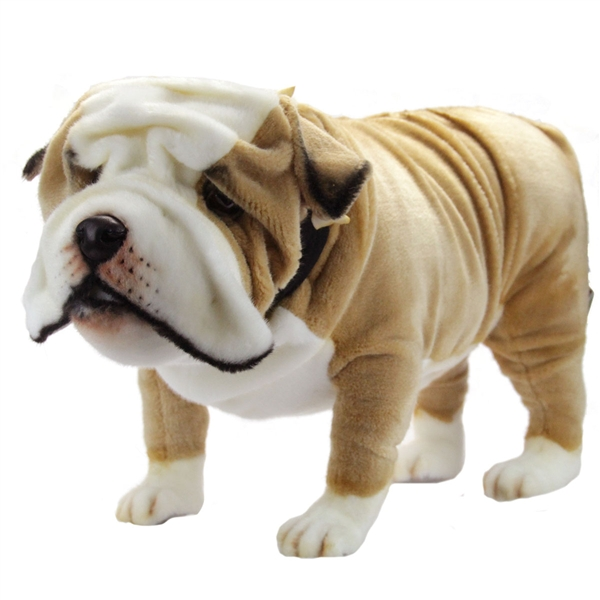 Handcrafted 30 Inch Life Size English Bulldog Stuffed Animal By
