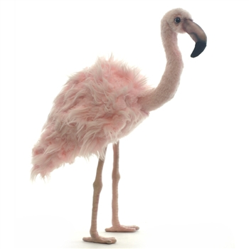 Handcrafted 15 Inch Lifelike Pink Flamingo Stuffed Animal by Hansa