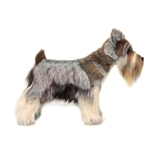 Lifelike Gray Miniature Schnauzer Stuffed Animal by Hansa