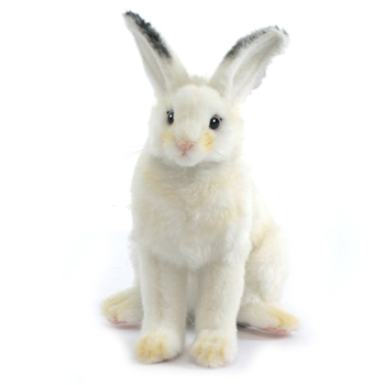 Handcrafted 6 Inch Lifelike Snowshoe Hare Stuffed Animal by Hansa