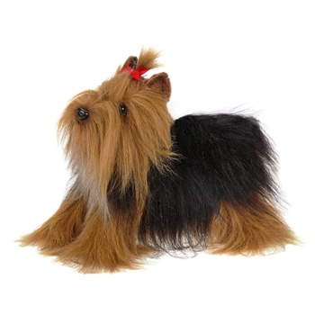 Lifelike Yorkshire Terrier Stuffed Animal by Hansa