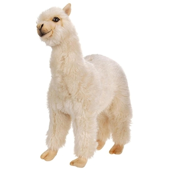 Lifelike Alpaca Stuffed Animal by Hansa