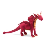 Handcrafted 12 Inch Lifelike Baby Red Dragon Stuffed Animal by Hansa