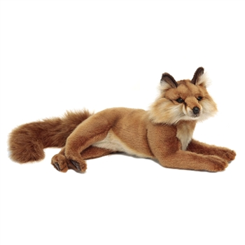 Lifelike Lying Red Fox Stuffed Animal by Hansa