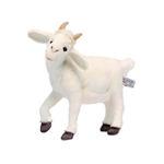 Lifelike Baby White Goat Stuffed Animal by Hansa
