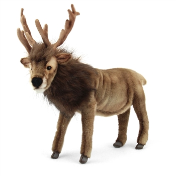 Handcrafted 16 Inch Lifelike Reindeer Stuffed Animal by Hansa
