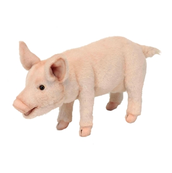 Lifelike Standing Piglet Stuffed Animal by Hansa