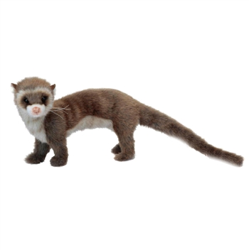 Lifelike Brown Ferret Stuffed Animal by Hansa