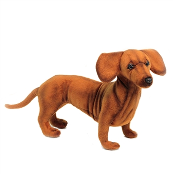 Lifelike Dachshund Stuffed Animal by Hansa