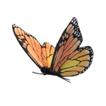 Lifelike Monarch Butterfly Stuffed Animal by Hansa