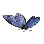 Lifelike Blue Butterfly Stuffed Animal by Hansa