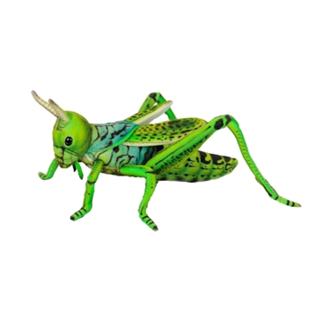 Lifelike Green Grasshopper Stuffed Animal by Hansa