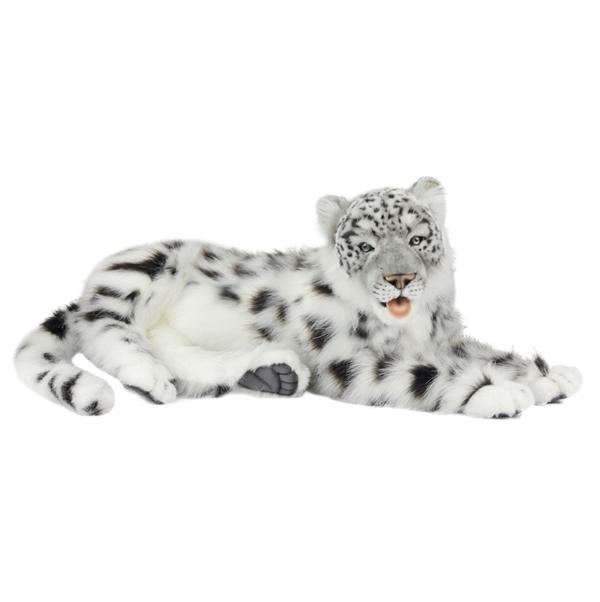 Lifelike Lying Snow Leopard Stuffed Animal Hansa Stuffed Safari
