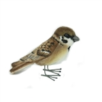 Handcrafted 3 Inch Lifelike Sparrow Stuffed Animal by Hansa