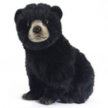Handcrafted 10 Inch Lifelike Black Bear Cub Stuffed Animal by Hansa