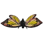 Lifelike Red Butterfly Stuffed Animal by Hansa