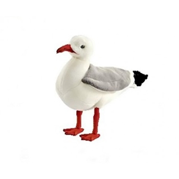 Handcrafted 10 Inch Lifelike Seagull Stuffed Animal by Hansa