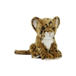 Handcrafted 6 Inch Sitting Lifelike Jaguar Cub Stuffed Animal by Hansa