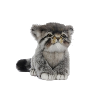 Handcrafted 12 Inch Sitting Lifelike Pallas Kitten Stuffed Animal by Hansa