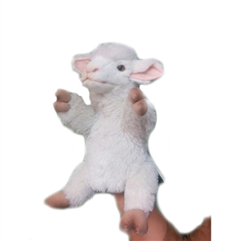 Handcrafted 11 Inch Lifelike Full Body Lamb Puppet by Hansa